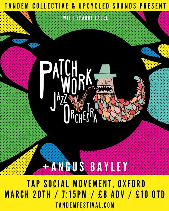 Oxford peeps!! Come join us for our last album launch tour date!! 20th March at Tap Social Movement. 🤙 #patchworkjazzorchestra #oxford #tapsocialmovement #jazz #livemusic #bigband #trumpet #trombone #saxophone #piano #bass #drums