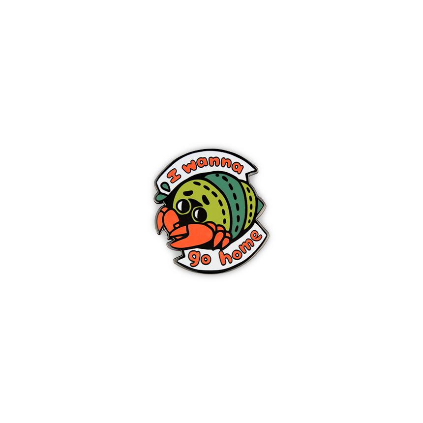 Get Lapel Pins-150-i wanna go home crab.jpg