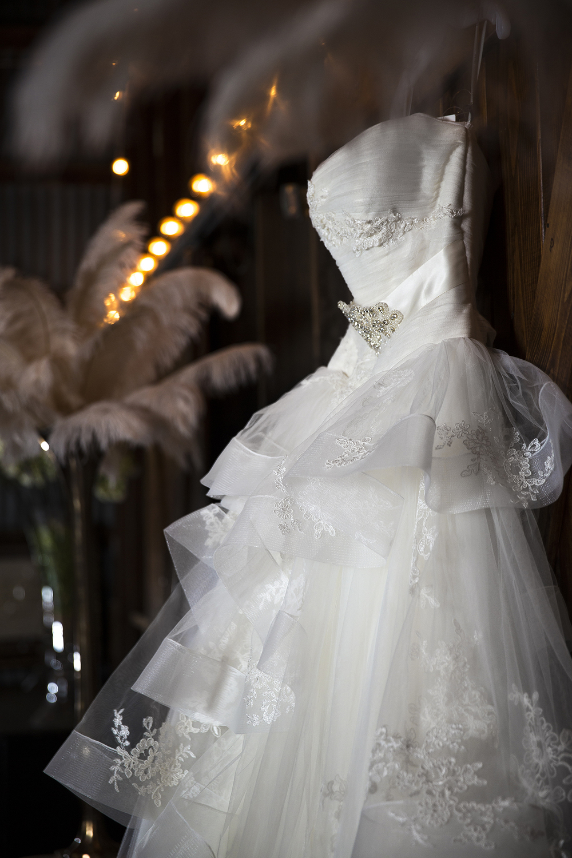 Wedding Dress, Walnut Tree Weddings, Born Door, Bokeh