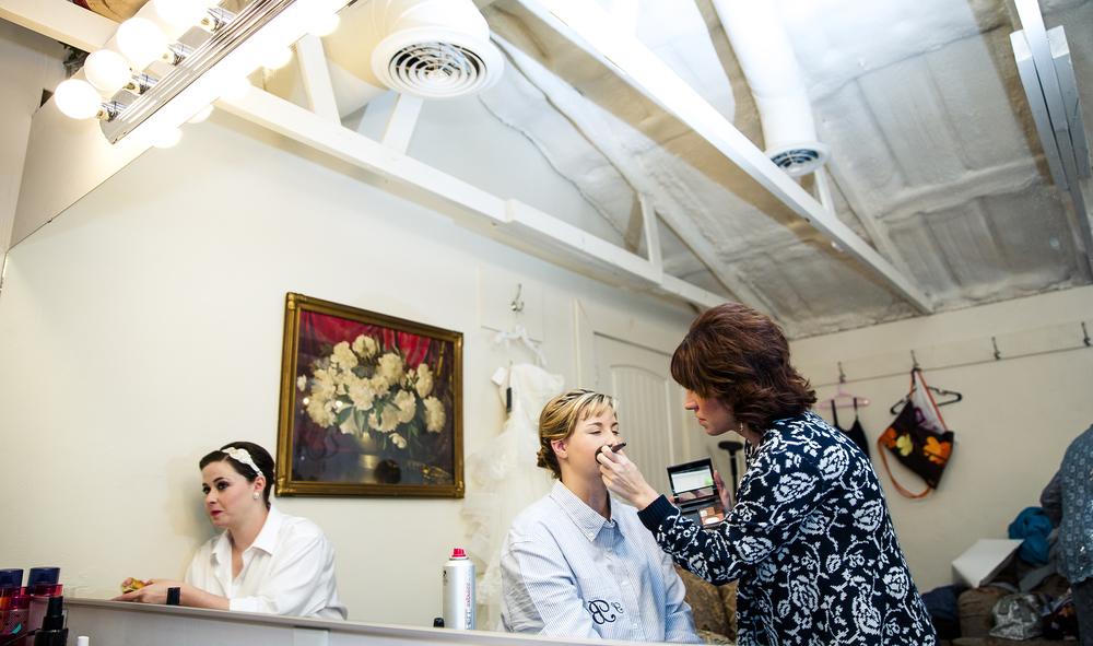 Getting Ready, Make Up, Mirror, Wedding Day, Walnut Tree Weddings