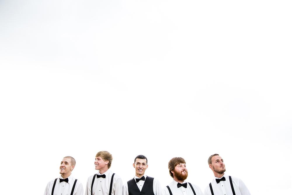 Bridal Party, Groomsmen, White Space, Negative Space, Open Sky, Walnut Tree Weddings