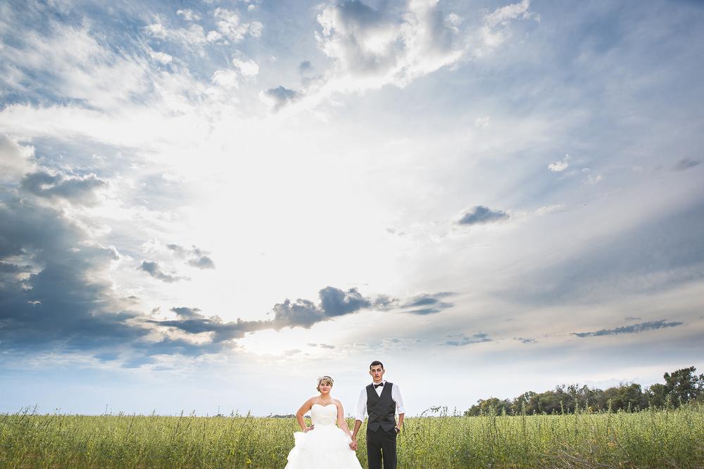 Sunset, Big Blue Sky, Bride and Groom Portraits, Walnut Tree Weddings, Olton