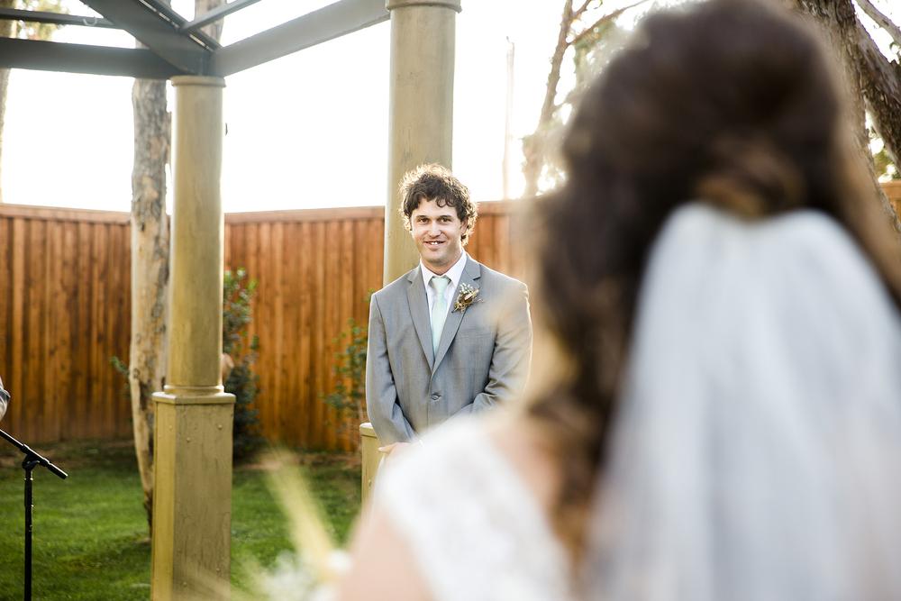 Lubbock Wedding Photography Wedding Photographer Walnut Tree Wedding Ceremony Groom Reactions