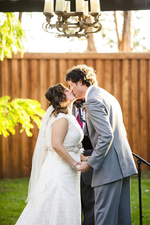 Lubbock Wedding Photography Wedding Photographer Walnut Tree First Kiss