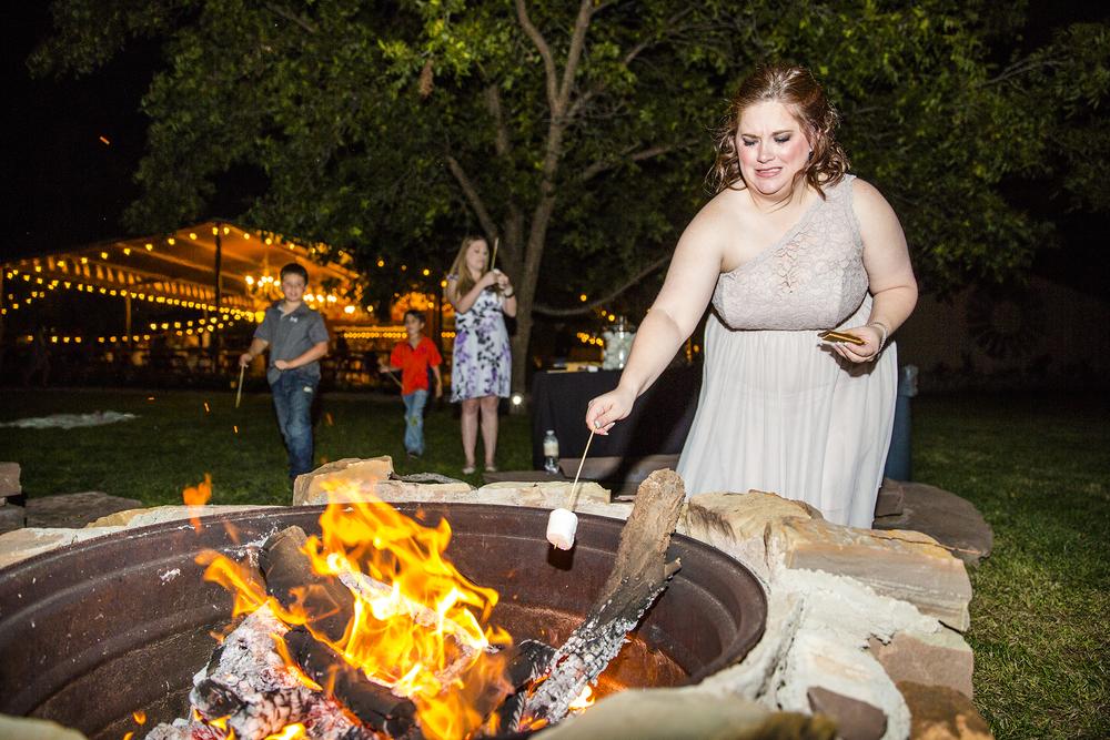 Lubbock Wedding Photography Wedding Photographer Walnut Tree Fire Pit Smores Wedding Dance