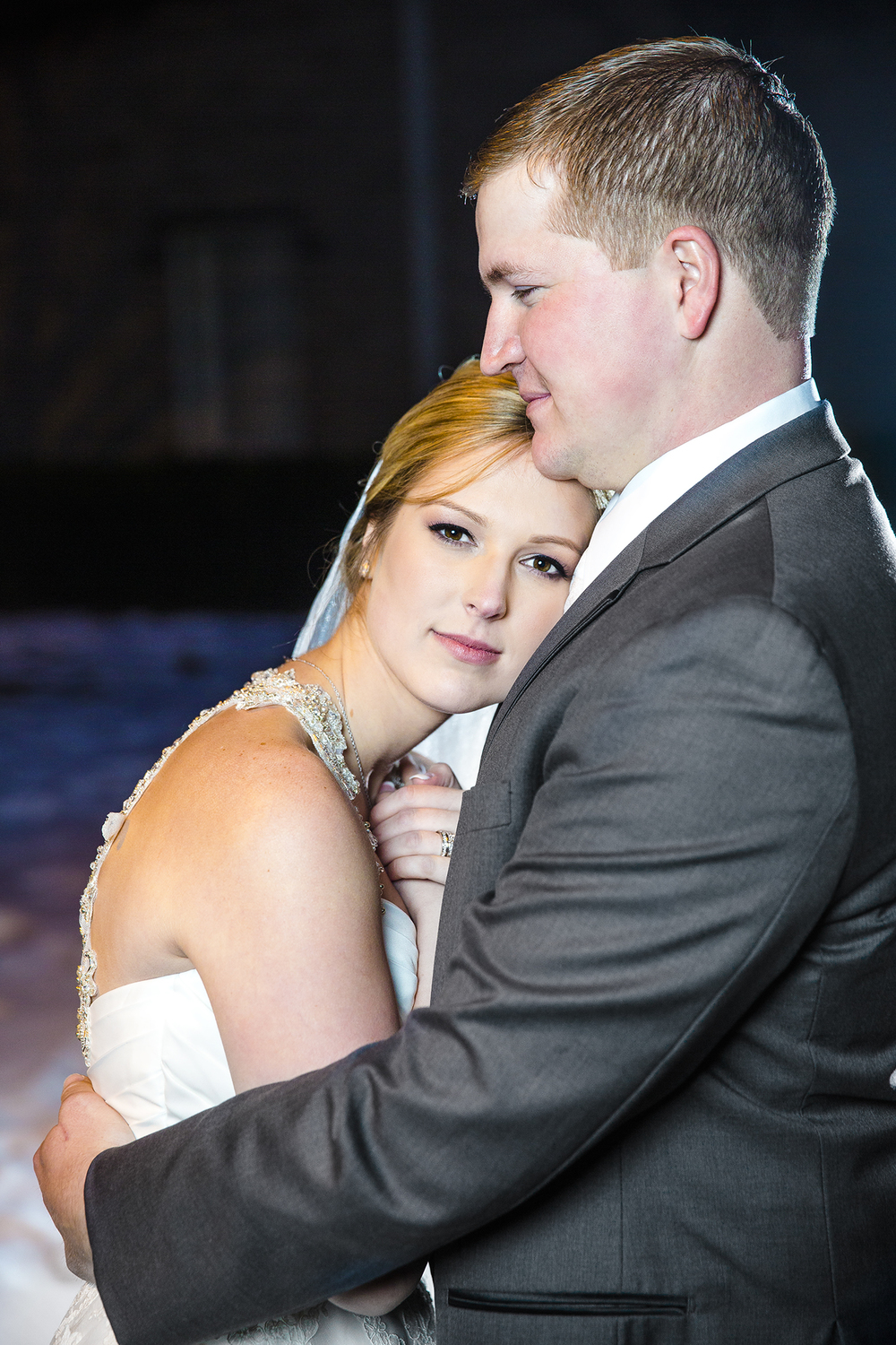romantic, sweet, cold outside, bride and groom, wedding portraits, keep her warm