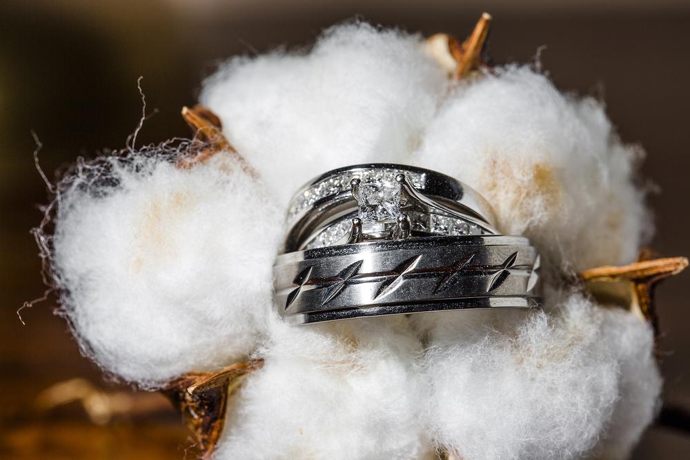 ring shot, wedding bands, cotton, wedding details, southern elegance design