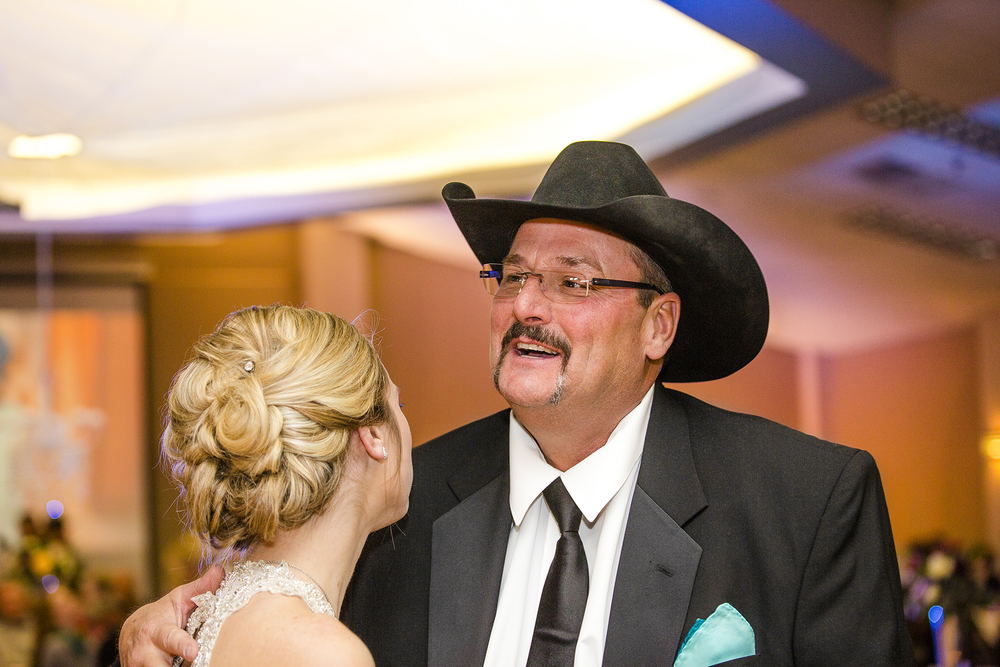 father daughter dance, wedding reception, sweet