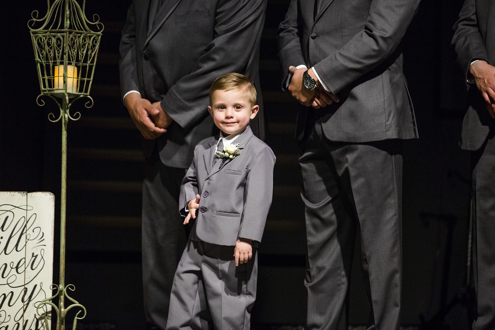 son of the bride, ring bearer, wedding ceremony