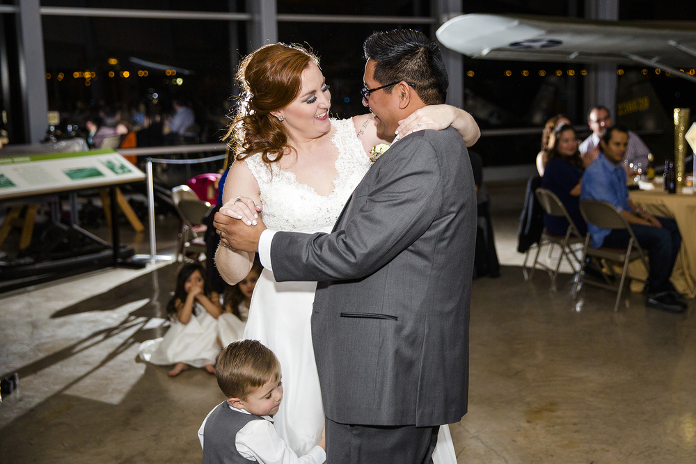 bride groom and son, first dance, sweet moment, romantic wedding reception