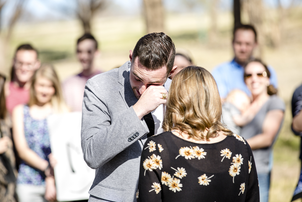 emotional moment, surprise proposal, sweet moment, bride and groom