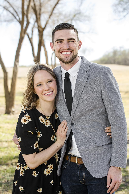 newly engaged, happy couple, romantic, sweet, lubbock christian university