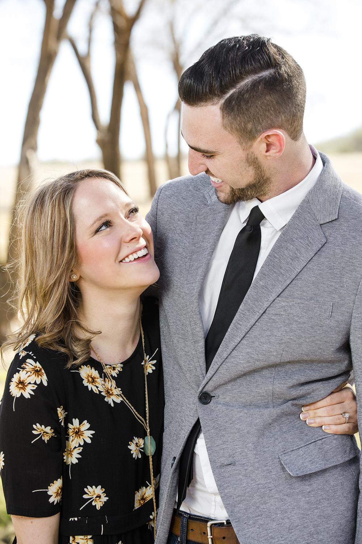 happy couple, surprise engagement, lubbock texas, lubbock christian university