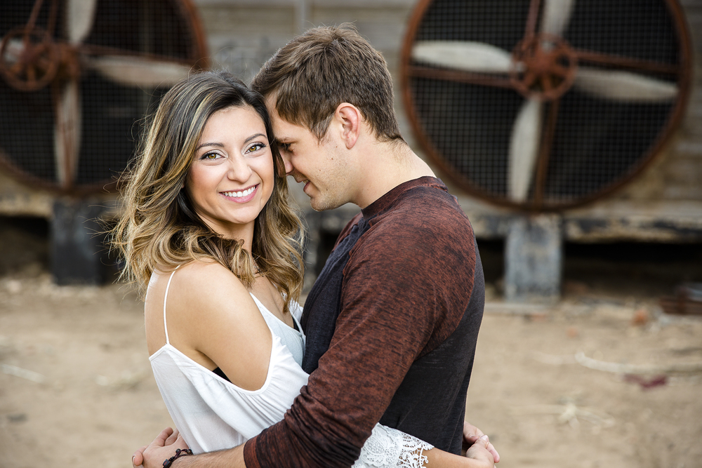 industrial, edgy, romantic, engagement photography, lubbock texas