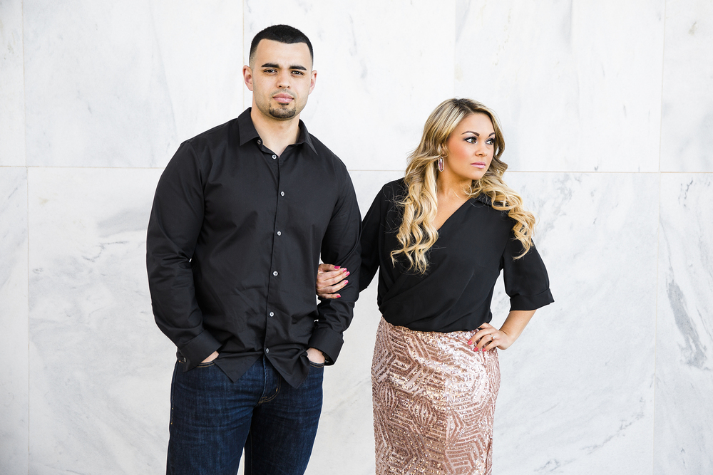 smolder, engagement photography, lubbock texas, white wall