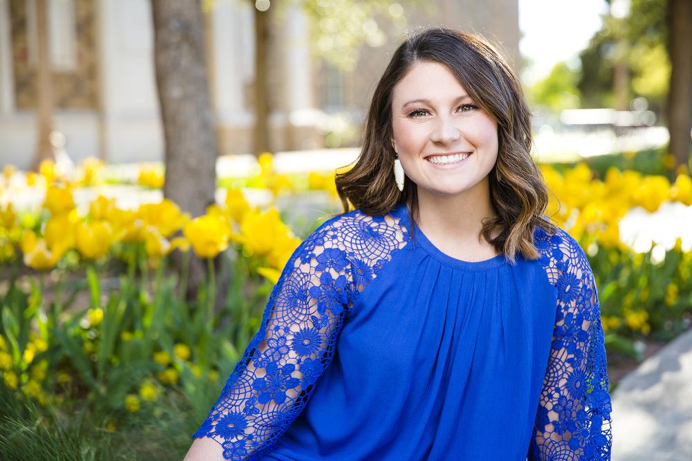 Tulips, Blue Dress, Senior, College