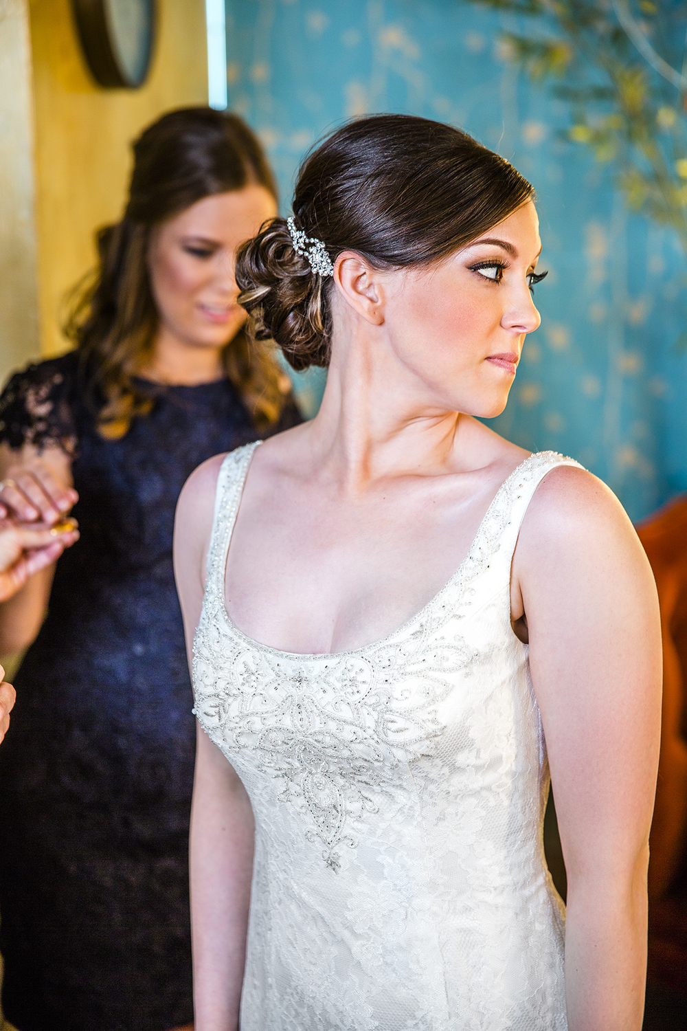Bride getting ready, McPherson Winery