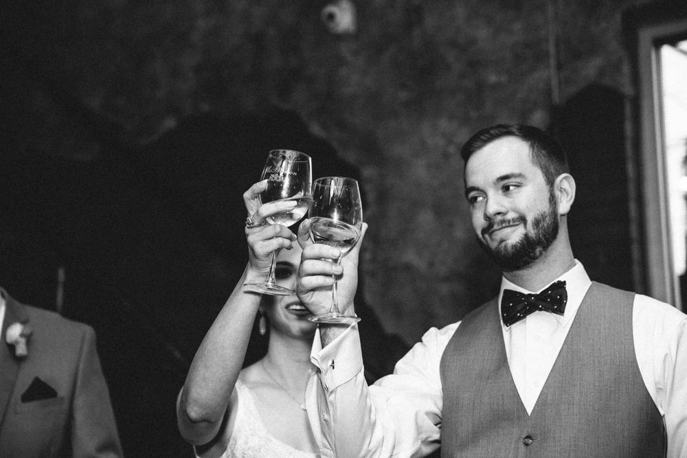 Toast, Bride and Groom
