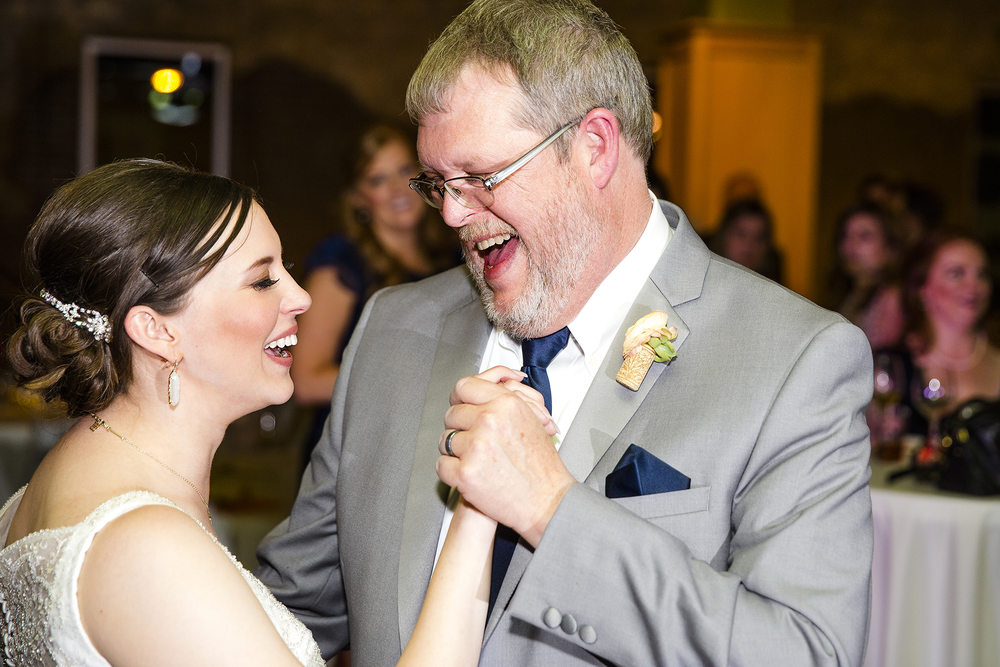 Bride and Dad, Laughter