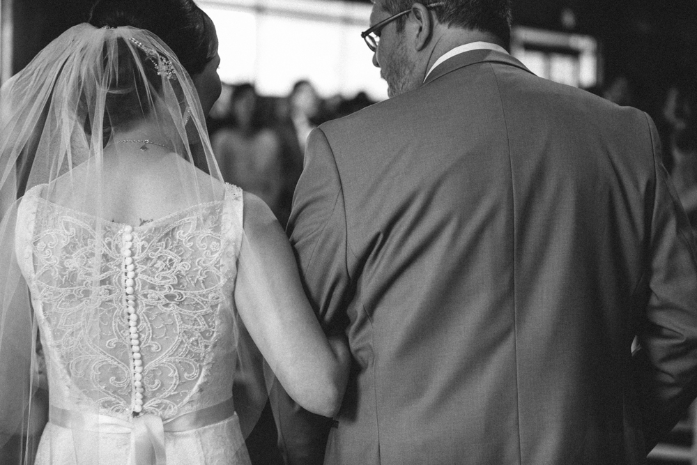 Bride and Dad, Walking down the Aisle