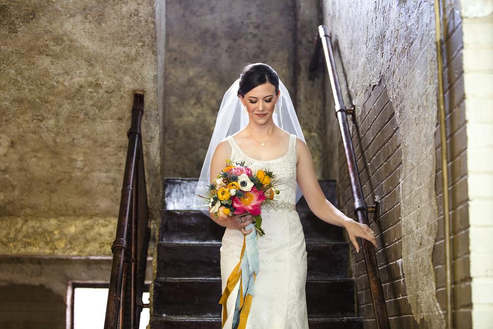 Bridal Portrait, Bride coming down the aisle