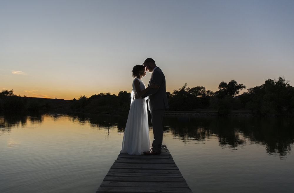 sunset, ransom canyon, lubbock wedding photography, sunset, dock, silhouette, dramatic photography, night photography