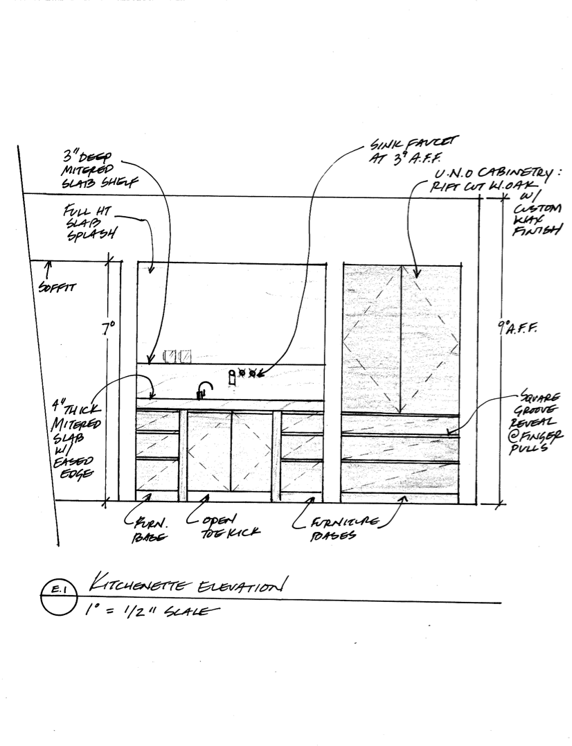 KITCHENETTE ELEVATION  DRAWING