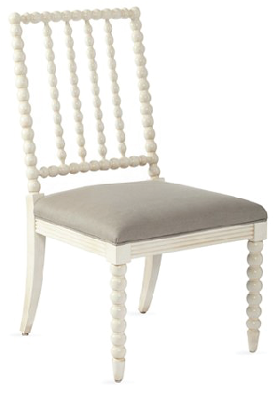ATTENTION: Calling all clients who love and NEED a little spooled chair in their lives!!!!!!!!!! I mean, come on... this chair is so stink'n lovely.