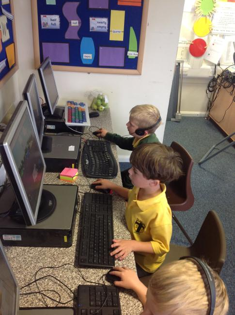 We have been using the computers to support our learning. Here we are using Mathletics.
