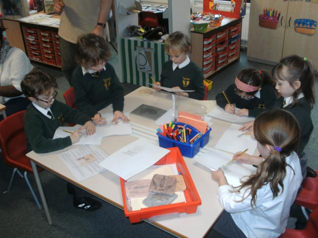 Our fossil rubbings and printing.