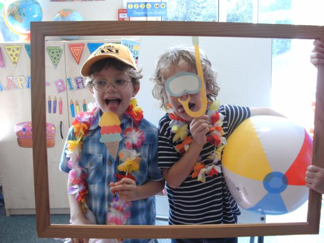 Our summer photo booth.