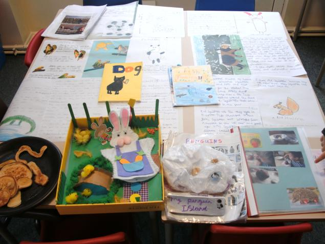 Here is some of the children's  fantastic homework about animals, have you ever seen a monkey made out of pancakes!