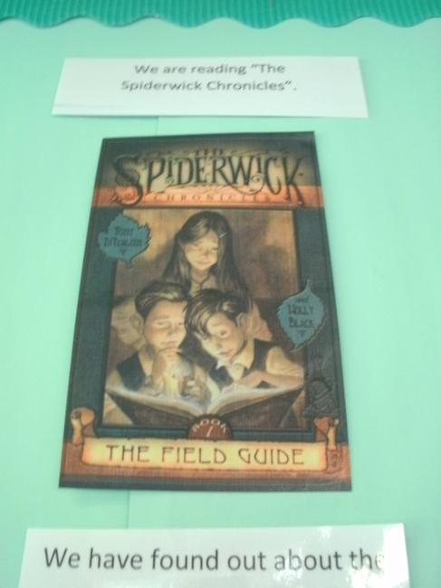 "We have also been reading ""The Spiderwick Chronicles"""