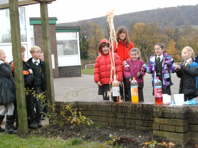 During Science week our class investigated what happened when mentos were added to large bottles of fizzy drinks. We designed fair tests to see which type of fizzy drink produced the largest explosion and also whether the temperature of the fizzy drink had an effect. The experiments were a lot of fun and very informative.