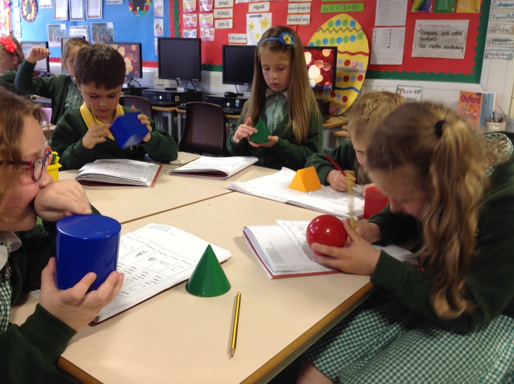 H.ere we are working out the properties of 3D shapes