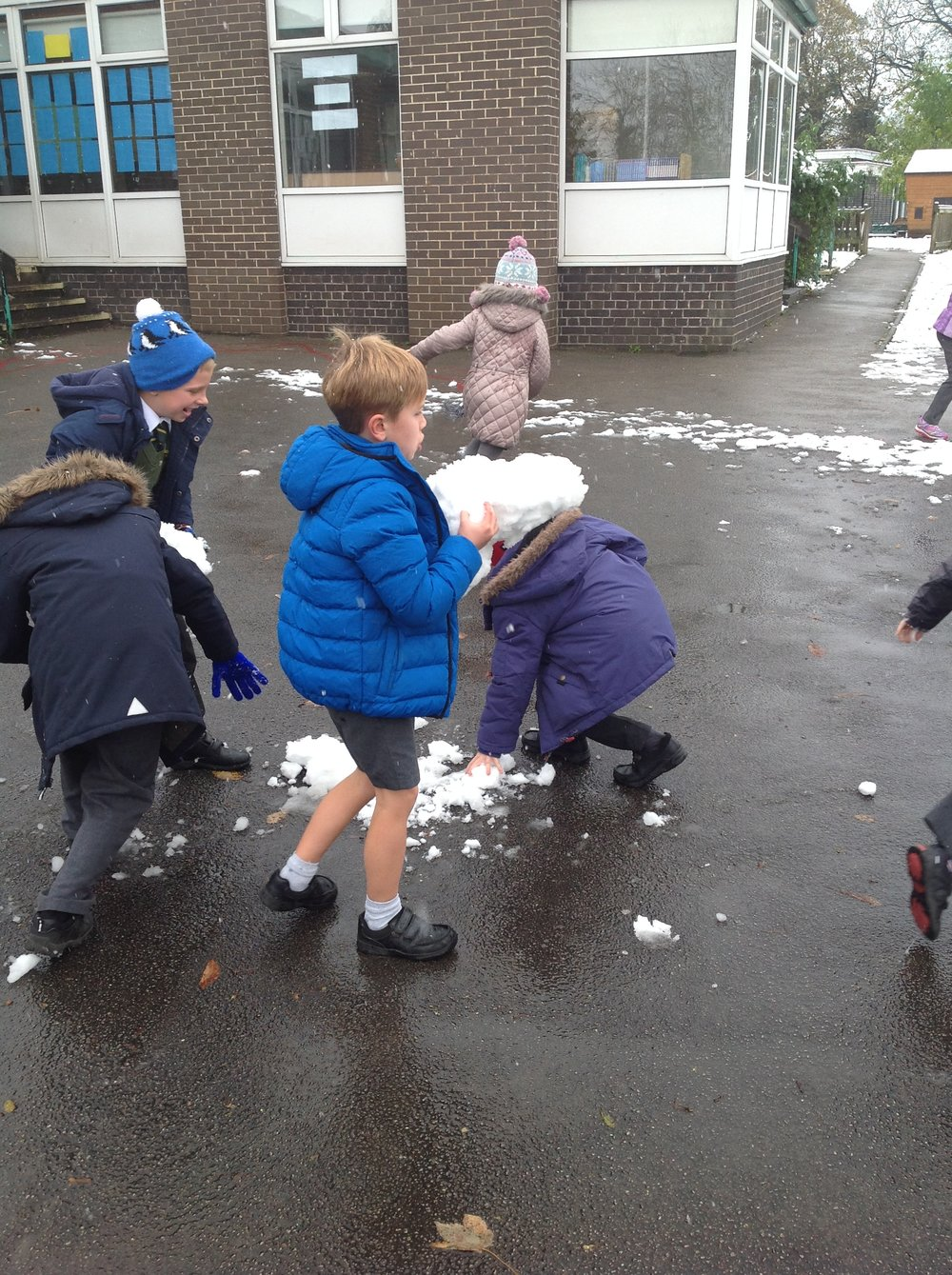 Some of us made BIG snowballs!
