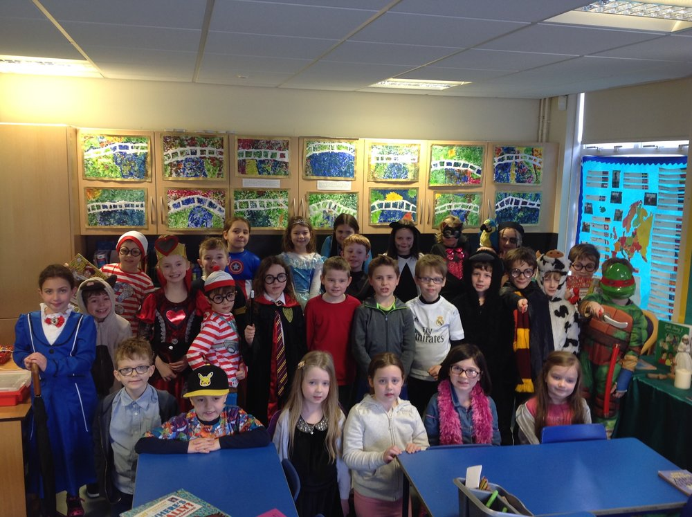 Year 3 all looked fabulous dressed up as their favourite character for World Book Day. How many Where's Wally can you spot?
