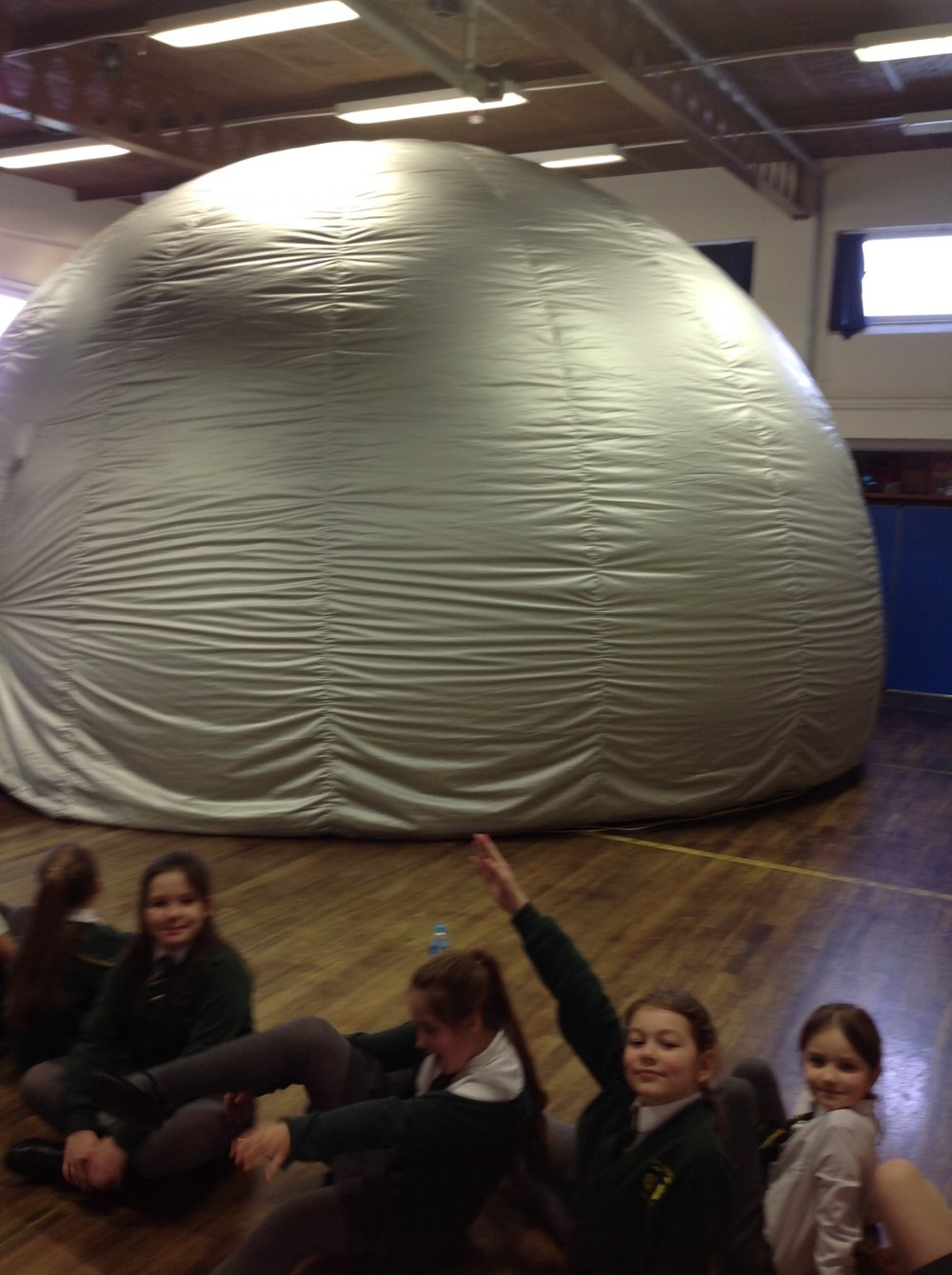 We loved the Space Dome Planetarium - we were so excited waiting to investigate inside.
