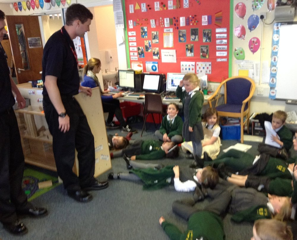 We thought of lots of questions we would like to ask the firemen.