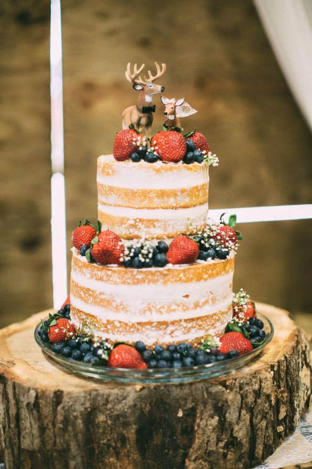 Copy of rustic naked wedding cake