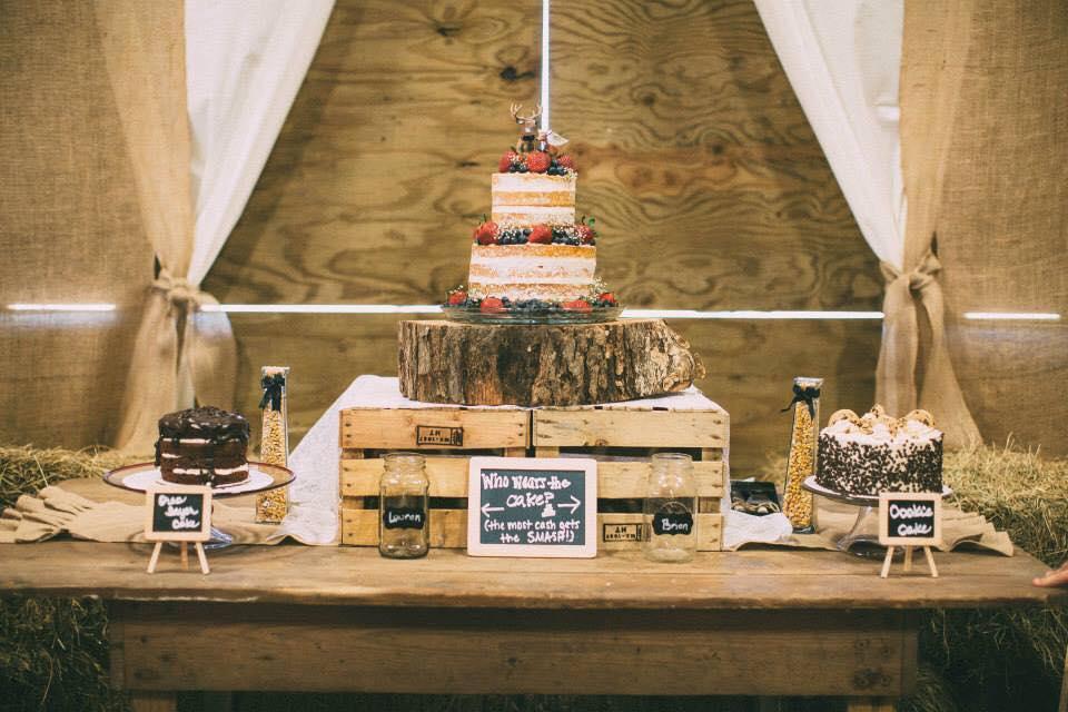 rustic wedding cakes naked cake
