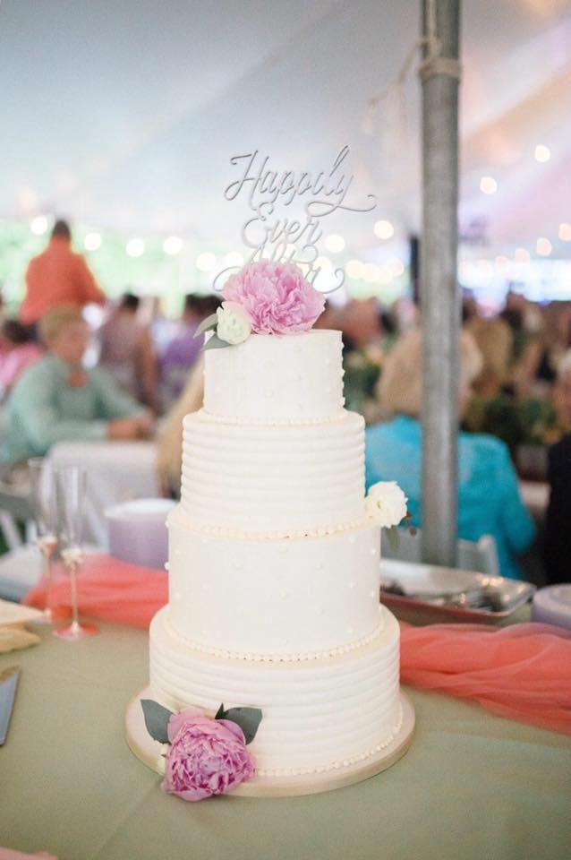 Copy of White buttercream wedding cake