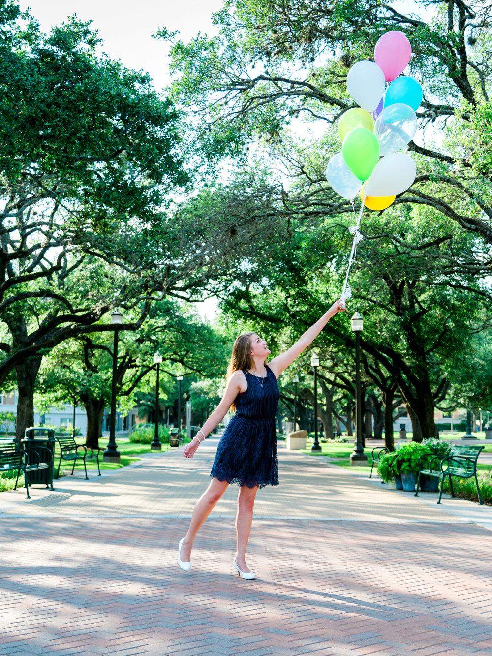 Balloons Take This Senior Away