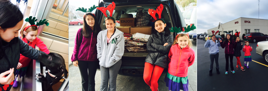 This was the holiday season of giving. In early Fall   KDWT Ambassadors started a recycling campaign by delivering flyers in the community. They collected newspapers and old rags for the Erie County SPCA, as well gently used books that will help to build libraries and benefit those in need.    KDWT delivered all recyclable goods to the SPCA on December 6th.