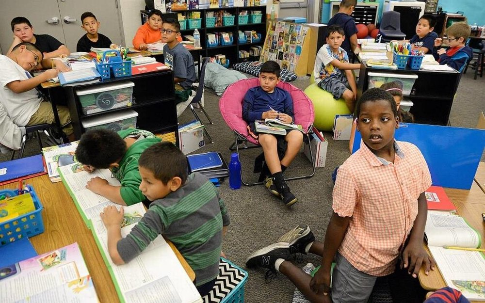 It's not just school supplies. Some teachers buy their own classroom furniture, too -