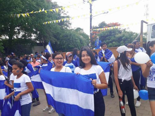 Large, peaceful protest in the capital, Managua