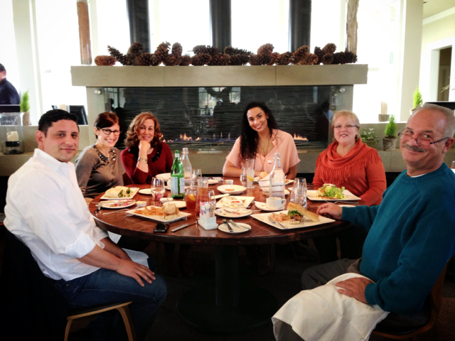 Our lunch at Sol Bar was such a treat — enjoying good food while sitting by a fire, drenched in lovely natural light…not a bad situation to be in! No wonder we all look so happy.