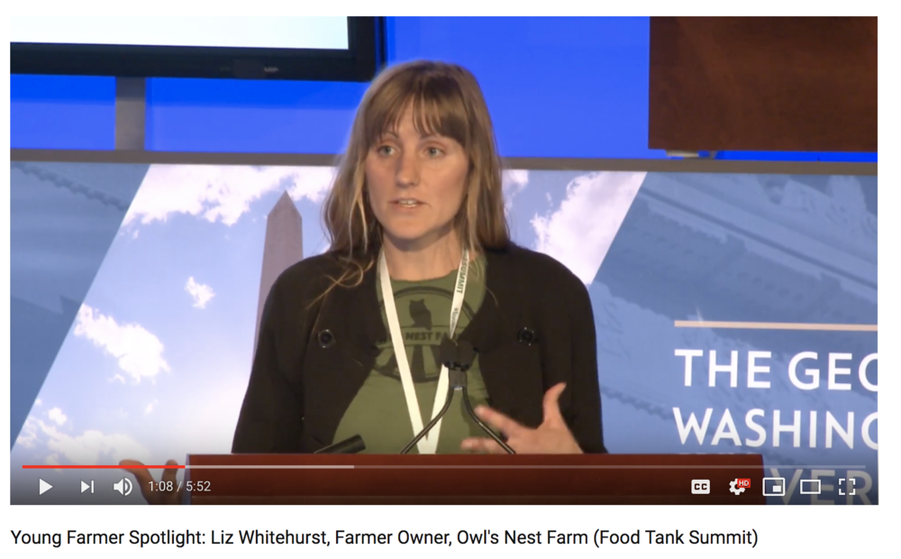 Check out Liz's Farmer Spotlight talk at the 2018 Food Tank Conference