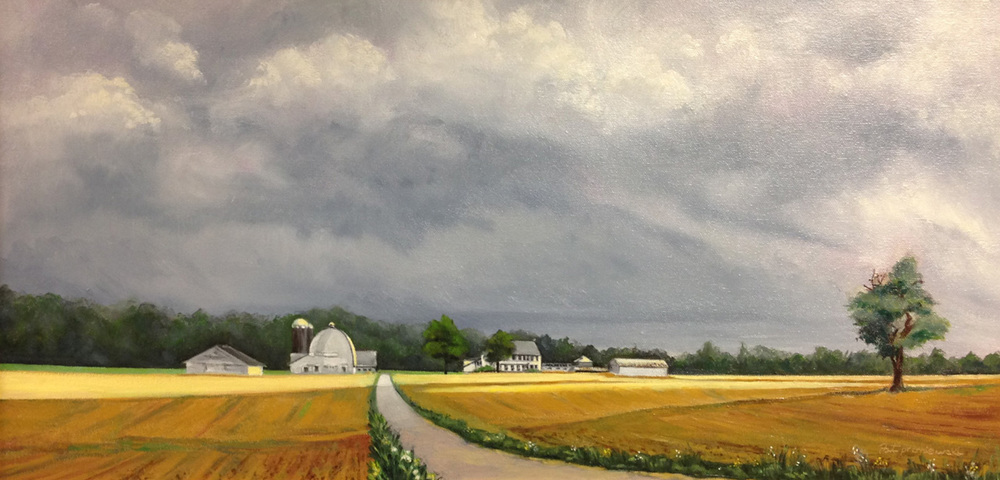 """Spring Storm Over Sunny Lane Farm"""