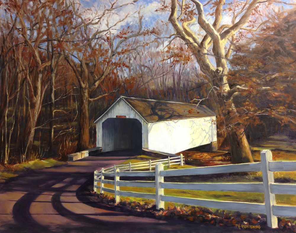 """Loux Covered Bridge Over Cabin Run"""